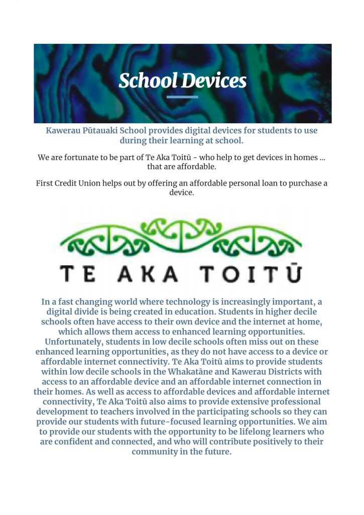 School Info, Kawerau Putauaki School